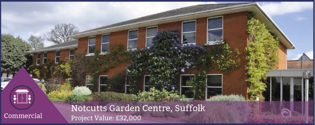 Seh Commercial Contracted By Notcutts To Replace Aluminium